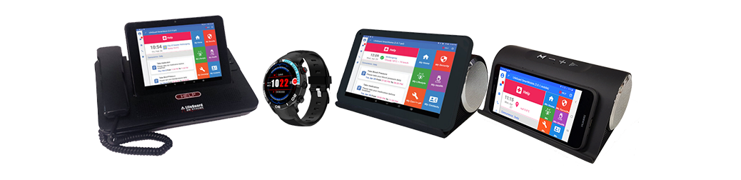 INS LifeGuard gadgets with the SmartCarer app